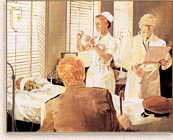 (Painting of L. Ron Hubbard in hospital)